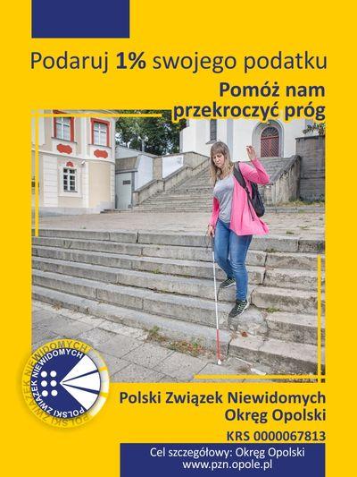 Polski Zwi±zek Niewidomych  - niepozorny 1%