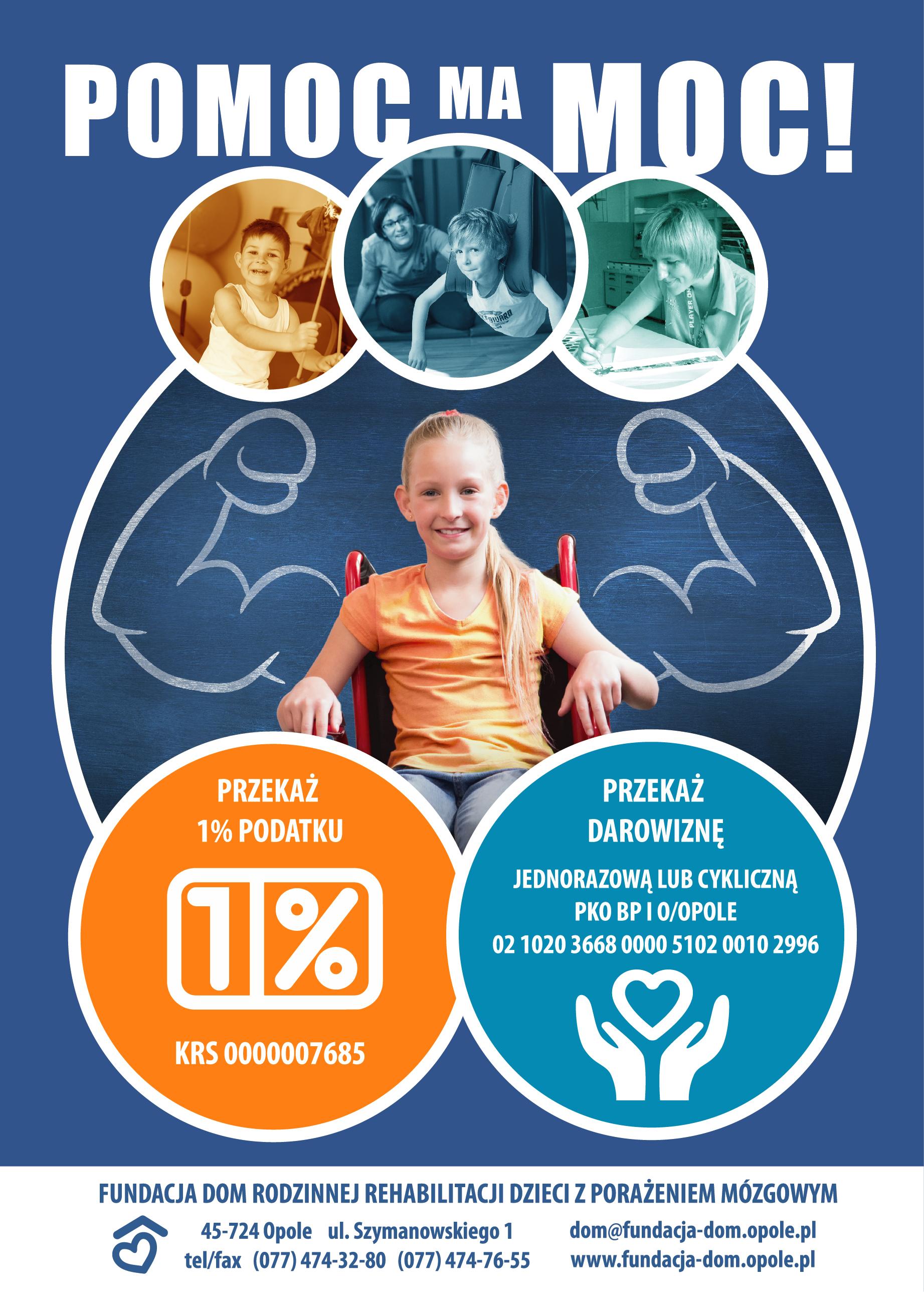Fundacja DOM Rodzinnej Rehabilitacji dzieci z Pora¿eniem Mózgowym - niepozorny 1%